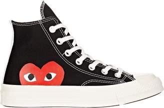 Comme des Garçons PLAY Women's Chuck Taylor 1970s High-Top Sneakers $125 thestylecure.com