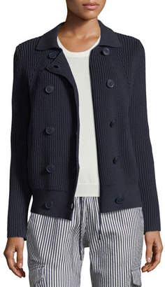 Emporio Armani Button-Front Cable-Knit Sweater Jacket