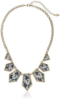 "Kensie Geo Shower Statement with Pattern Necklace, 20"" $42 thestylecure.com"