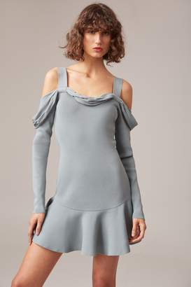 C/Meo COLLECTIVE SCOPE LONG SLEEVE KNIT DRESS sage