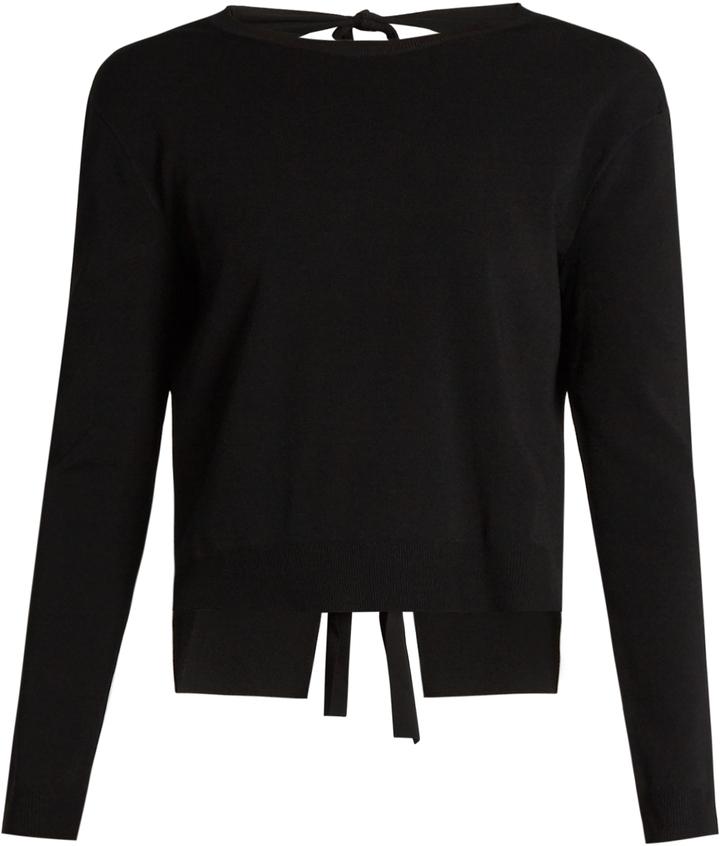 ValentinoVALENTINO Tie-back crew-neck sweater