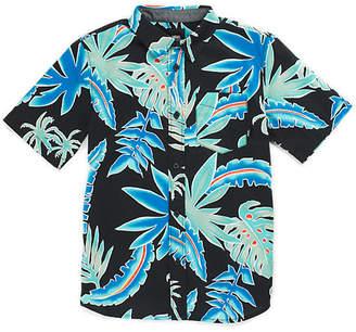 Boys Pit Stop Floral Buttondown Shirt