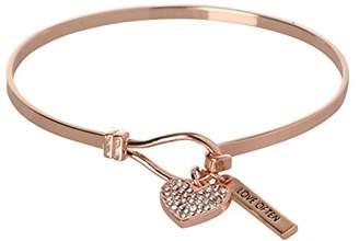 BCBGeneration BCBG Generation 12k Crystal Heart Charm Bracelet