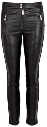 Etoile Isabel Marant Zappery Black Faux Leather Leggings