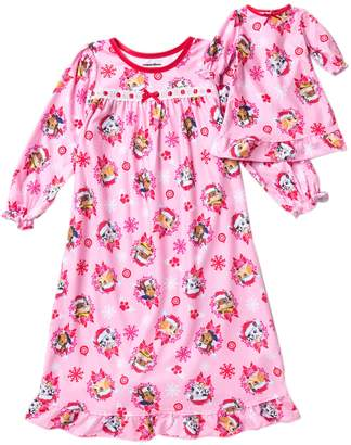AME Paw Patrol Holiday Granny Nightgown & Doll Nightgown Set (Toddler Girls)