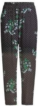 Ganni Women's Rometty Polka Dot Pants - Black - Size 36 (2)