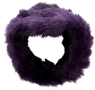 Adrienne Landau Violet Fur Headband