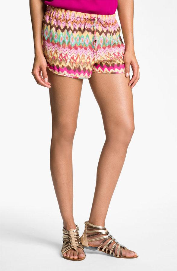 Haute Hippie Print Drawstring Shorts