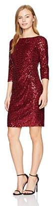 Jessica Howard Women's Petite 3/4 Sleeve Sequin Shift