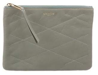 Lanvin Quilted Zip Pouch w/ Tags