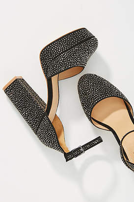 Bill Blass Ellie Sequined Platform Heels