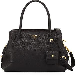 Prada Medium Vitello Daino Top-Handle Bag $2,160 thestylecure.com