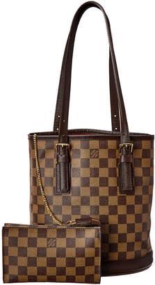 Louis Vuitton Damier Ebene Canvas Marais Bucket Bag