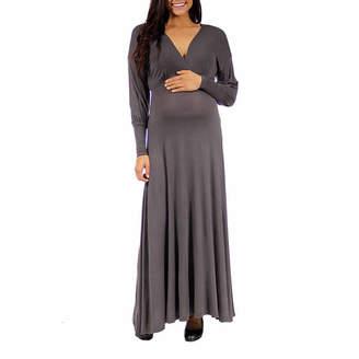 24/7 Comfort Apparel Empire Waist Dress-Plus Maternity