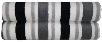 Mainstays Striped Performance Bath Sheet Set, 2 Pack
