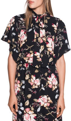 Floral Fluted Sleeve Dress