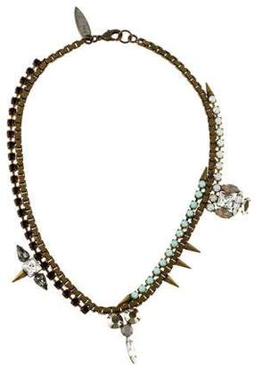 Fallon Crystal Spike Collar Necklace