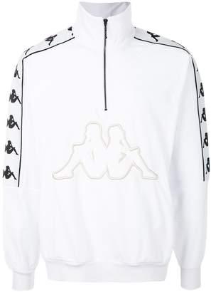 Kappa zipped collar logo sweatshirt