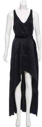 Narciso Rodriguez Asymmetrical Silk Dress w/ Tags