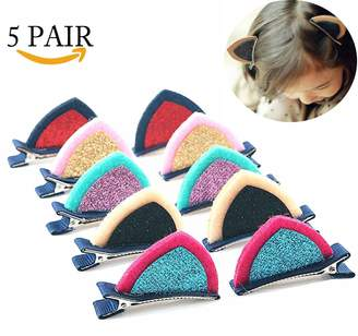 styling/ RACHELJP Cat Ear Clips Barrettes Hair Pins for Girls Toddles Women Hair Accessories Barrettes, 5 Pair