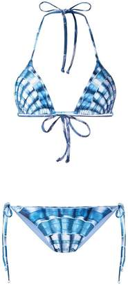 Mara Hoffman shell print bikini set