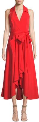 Milly Kate Halter Midi Dress, Red