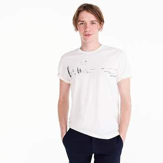 J.Crew Tall Mercantile Broken-in T-shirt in sailboat sketch graphic