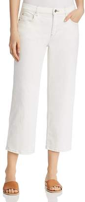 Eileen Fisher Cropped Wide-Leg Jeans in Undyed Natural