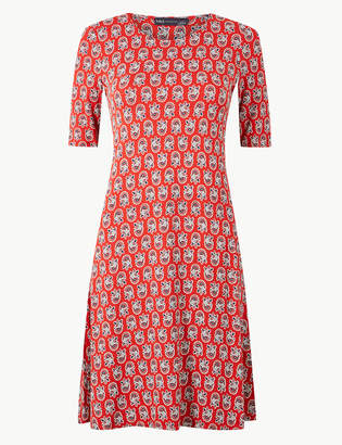 Marks and Spencer Floral Print Jersey Swing Dress