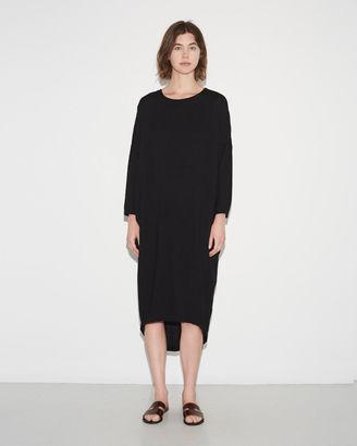 Black Crane Pleated Cocoon Dress $215 thestylecure.com