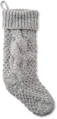 L.L. Bean L.L.Bean Chunky Knit Christmas Stocking