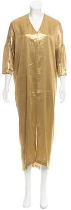 Zero Maria Cornejo Metallic Maxi Dress