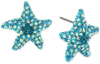 Betsey Johnson Pave Starfish Stud Earrings