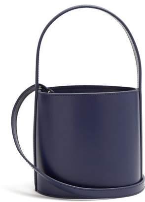 Staud - Bissett Leather Bucket Bag - Womens - Blue