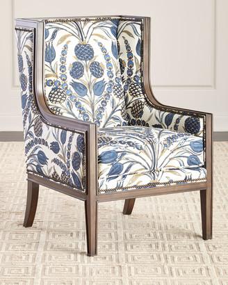 Massoud Nancy Linen Accent Chair