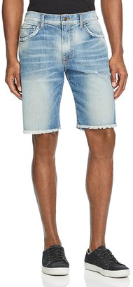 Joe's Jeans Denim Cutoff Straight Fit Shorts in Dunn $149 thestylecure.com