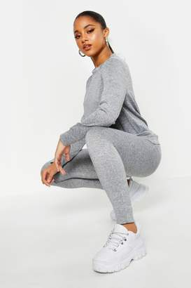 boohoo Pocket Front Knitted Lounge Set