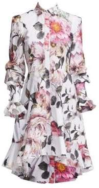 Marchesa Women's Floral High-Low Shirtdress - Floral Print - Size 6
