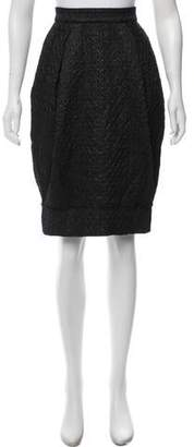 Dolce & Gabbana Matelassé Metallic Skirt w/ Tags