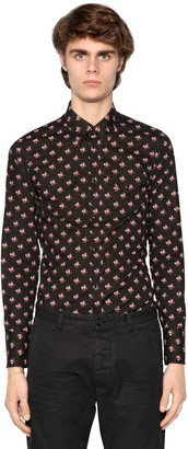 DSQUARED2 Printed Cotton Western Poplin Shirt