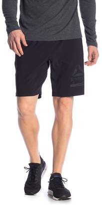 Reebok Speedwick Solid Athletic Shorts w\u002F Logo
