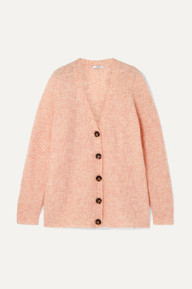 Ganni Callahan Oversized Ribbed-knit Cardigan - Peach