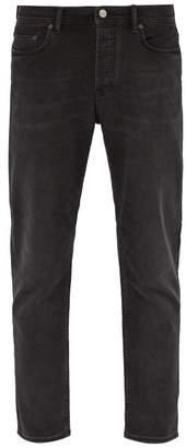 Acne Studios River Washed Denim Slim Leg Jeans - Mens - Black