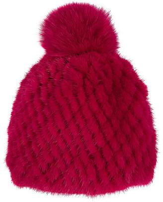 Barneys New York Women's Mink & Fox Fur Beanie