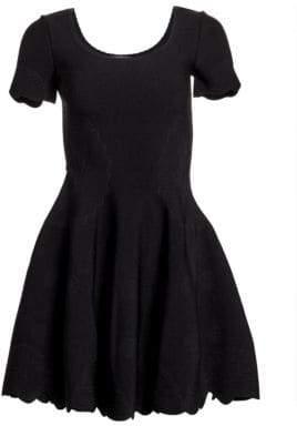 Alexander McQueen Scallop Flared T-Shirt Dress