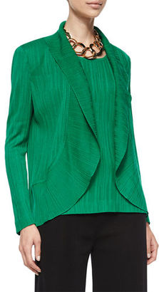Misook Textured Cascade Jacket, Putting Green $398 thestylecure.com