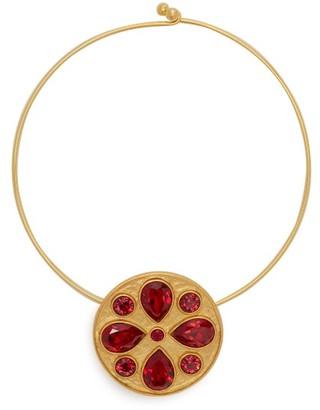 Rebecca De Ravenel Pamina 24kt Gold Plated Choker - Womens - Red