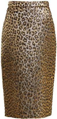 Gucci Leopard-print jacquard pencil skirt
