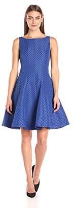 Julian Taylor Women's Fit and Flare Polka Dot Dress