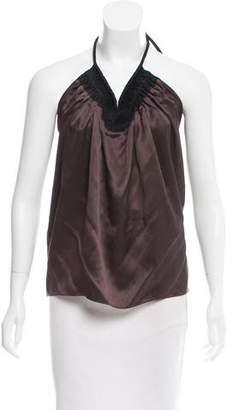 Lanvin Silk Halter Top